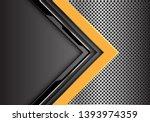 abstract yellow grey circuit... | Shutterstock .eps vector #1393974359