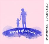 father holding daughter... | Shutterstock .eps vector #1393975160