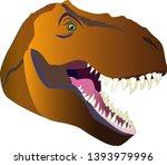 tyrannosaurus rex head... | Shutterstock .eps vector #1393979996