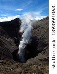 mount bromo  an active volcano... | Shutterstock . vector #1393991063