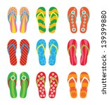 Colorful Flip Flops Set....