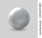 metal ball isolate .realistic... | Shutterstock .eps vector #1394019389