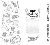 bread hand drawn set... | Shutterstock .eps vector #1394025536