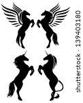 rearing up fantasy horses... | Shutterstock .eps vector #139403180
