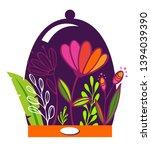 beautiful summer flowers in a... | Shutterstock .eps vector #1394039390