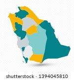 saudi arabia map on transparent ...   Shutterstock .eps vector #1394045810