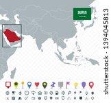 saudi arabia location on asia...   Shutterstock .eps vector #1394045813