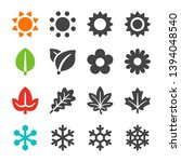 four season icon set  vector... | Shutterstock .eps vector #1394048540