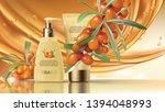 sea buckthorn cosmetics vector...   Shutterstock .eps vector #1394048993