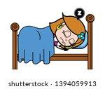 sleeping   retro cartoon female ... | Shutterstock .eps vector #1394059913