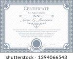 certificate or diploma vintage... | Shutterstock .eps vector #1394066543
