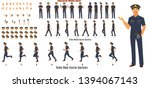 police character model sheet... | Shutterstock .eps vector #1394067143
