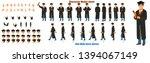 student character model sheet...   Shutterstock .eps vector #1394067149