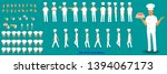 chef character model sheet with ... | Shutterstock .eps vector #1394067173