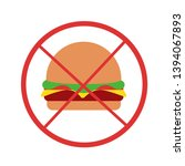 vector cartoon burger  icon... | Shutterstock .eps vector #1394067893