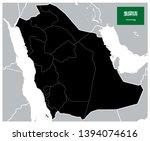 black color saudi arabia map  ...   Shutterstock .eps vector #1394074616