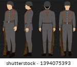 ww1 german army uniform with... | Shutterstock .eps vector #1394075393