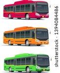 colourful bus  transport ... | Shutterstock .eps vector #1394084486