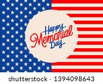 memorial day background with... | Shutterstock .eps vector #1394098643