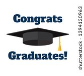 academic hat and inscription ... | Shutterstock .eps vector #1394120963