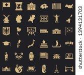 destination icons set. simple... | Shutterstock .eps vector #1394131703