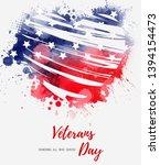 usa veterans day background.... | Shutterstock .eps vector #1394154473
