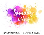 sunday vibes   handwritten...   Shutterstock .eps vector #1394154683