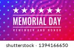 memorial day   remember and... | Shutterstock .eps vector #1394166650