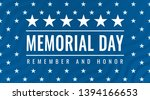 memorial day   remember and... | Shutterstock .eps vector #1394166653