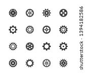 set of 16 gears icons. | Shutterstock .eps vector #1394182586