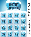 insurance vector icons frozen... | Shutterstock .eps vector #1394221049