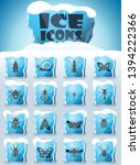 insects vector icons frozen in... | Shutterstock .eps vector #1394222366