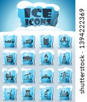industry vector icons frozen in ... | Shutterstock .eps vector #1394222369
