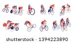 cycling tour horizontal set of... | Shutterstock .eps vector #1394223890