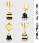 trophy award realistic set on... | Shutterstock .eps vector #1394223986