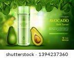 avocado cosmetics skin toner .... | Shutterstock .eps vector #1394237360