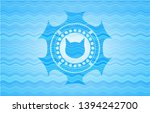 cat face icon inside water... | Shutterstock .eps vector #1394242700