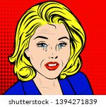 sad frustrated mature old woman ... | Shutterstock .eps vector #1394271839