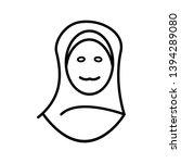 islamic women beautiful line... | Shutterstock .eps vector #1394289080