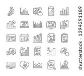 graph line icons. set of report ... | Shutterstock .eps vector #1394291189