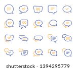 chat and quote line icons.... | Shutterstock .eps vector #1394295779