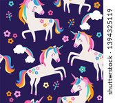 seamless pattern with magic... | Shutterstock .eps vector #1394325119