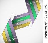 paper ribbon template eps10... | Shutterstock .eps vector #139433393