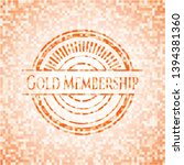 gold membership abstract orange ... | Shutterstock .eps vector #1394381360