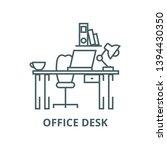 office desk home desk vector... | Shutterstock .eps vector #1394430350