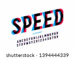 Speed Style Font  Alphabet...