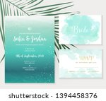 deep teal ocean and blue... | Shutterstock .eps vector #1394458376