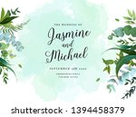 herbal vector frame. hand... | Shutterstock .eps vector #1394458379