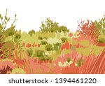 Abstract Graphic Steppe View...