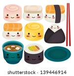 sushi collection   vector file...
